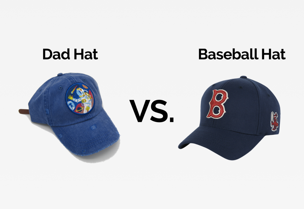 difference between dad hats and baseball caps