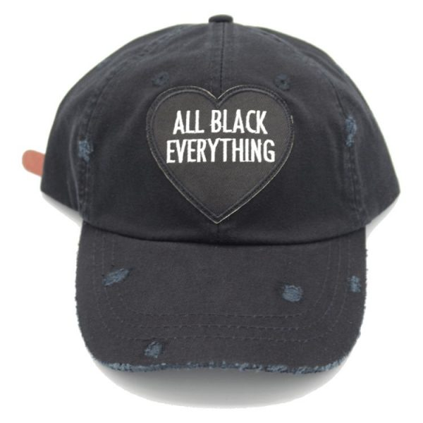 all black dad hat 2