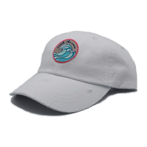 Catch the wave white dad hat