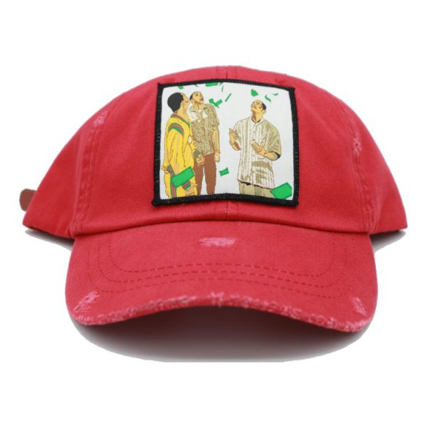 Paid in full red dad hat 2