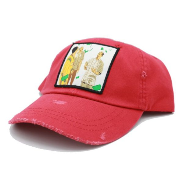 Paid in full red dad hat