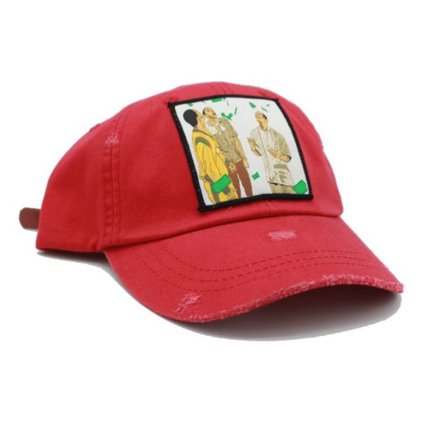 Paid in full red dad hat 4