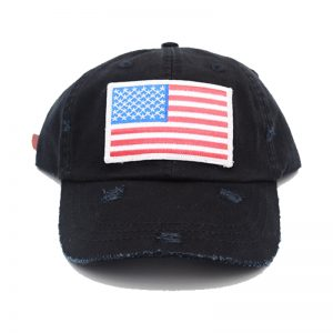 Black American Flag Dad Hat