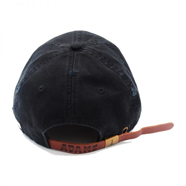 Wave hat black back