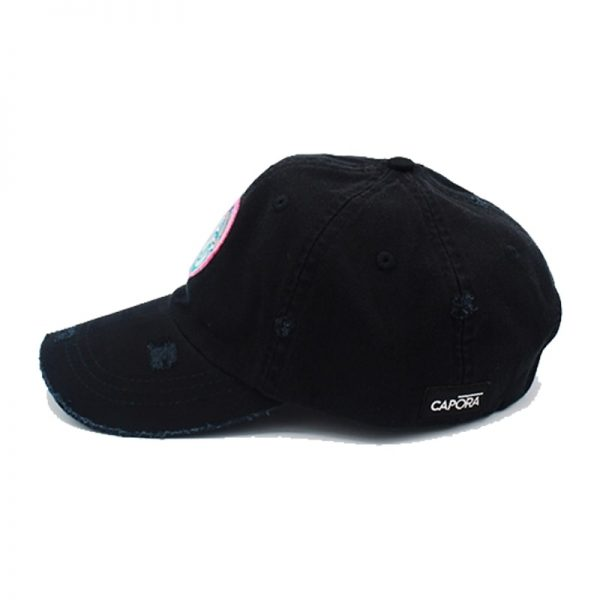 Wave hat black side