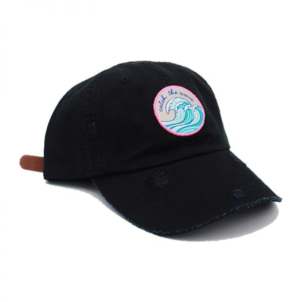 Wave hat black