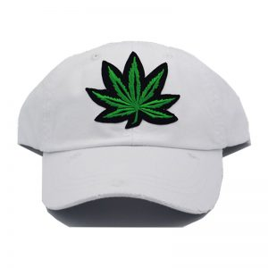 Weed Dad Hat (White)